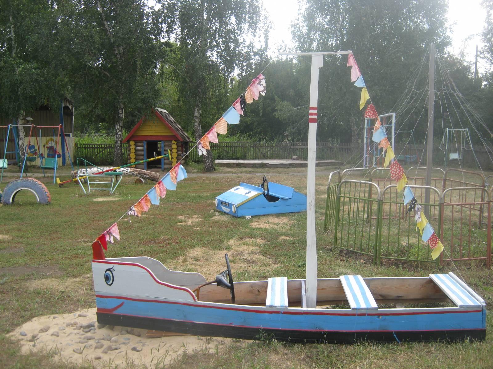 Оформление участков детского сада своими руками из дерева
